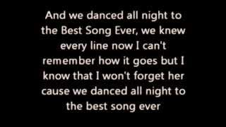 One Direction - Best Song Ever (lyrics) (HD, 1080p!)