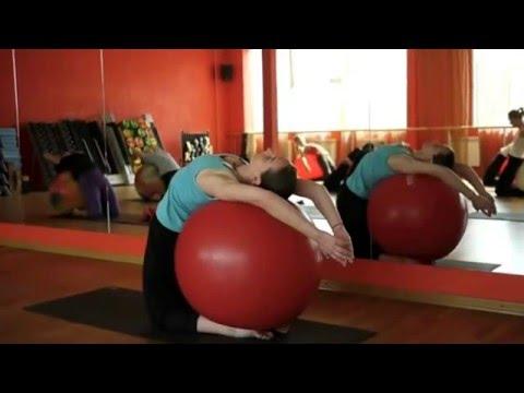 Gerakan Senam Yoga Menggunakan Bola