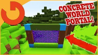 How to Make a Portal to CONCRETE WORLD in Minecraft! (NO MODS!)