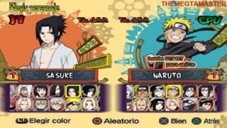 Naruto Shipudden Ultimate Ninja 5 PS2 Todos los personajes desbloqueables