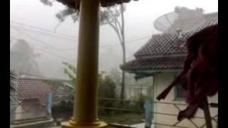 hujan badai di Rancah Ciamis