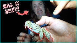 DON'T GO TO THE BEACH AT 3 AM!! CRAB HUNTING GONE WRONG!