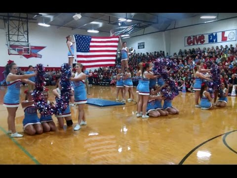 watch News :: School Cheerleaders' Patriotic 9/11 Tribute Routine Viral || God Bless The U.S.A. 2015 Video