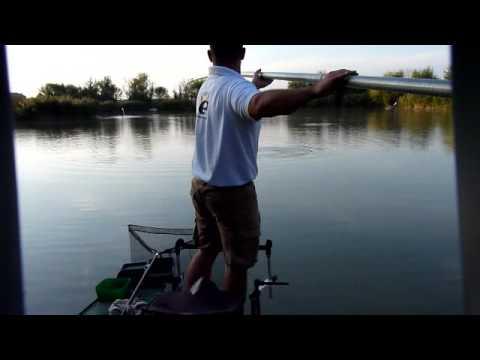 9.2 Kg Big Carp By long pole 13m Dino on lake Pozsar