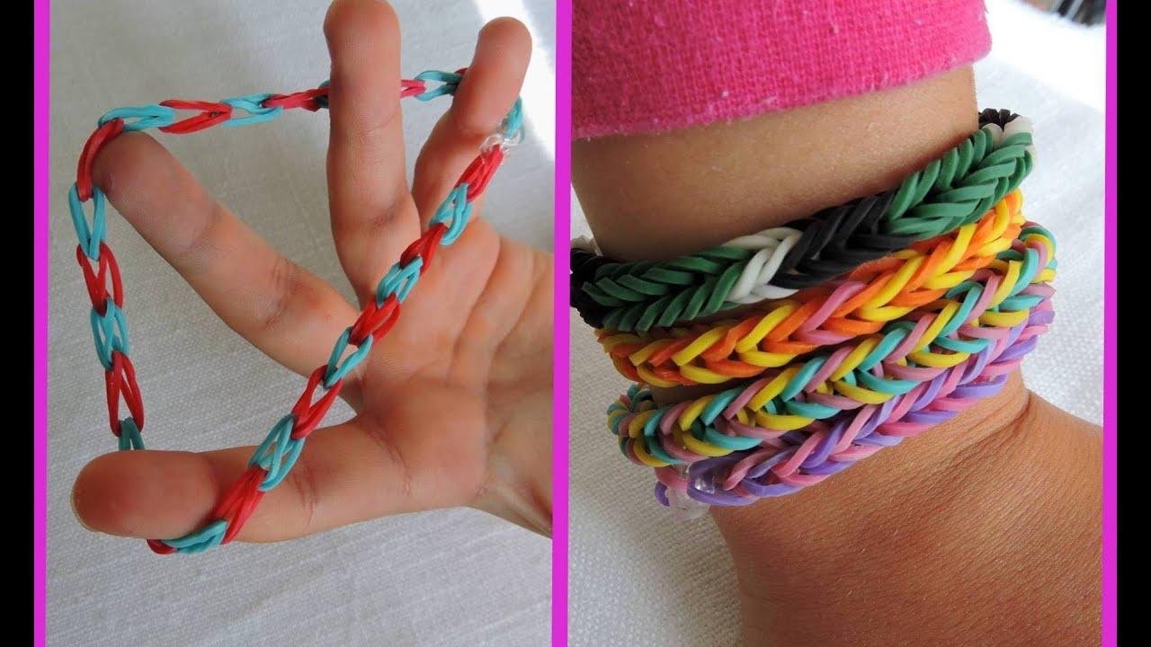 Как легко сделать браслеты из резинок