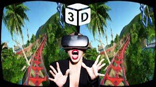 Roller Coaster VR VIDEO 3D SBS Skull Horror Scary | Google Cardboard Gear VR Box Video 3D HD 1080p