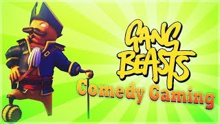 Gang Beasts -  Pirate Ted - Rockstars & Bulls*it - Comedy Gaming