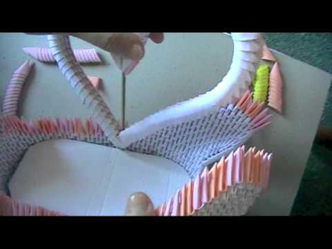 3D origami swan loveboat part 3