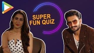 ENTERTAINING- Ranveer Singh-Sara Ali Khan's SUPERB QUIZ on 'Bollywood Cop Drama'
