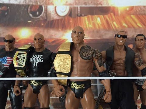 WWE Mattel The Rock Champions Kmart Fan Central Wrestlemania XXX wrestling figure review & 32 review