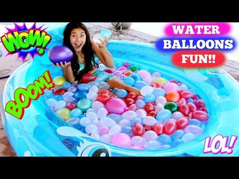 WATER BALLOON FIGHT 4th of July Balloons Summer Fun B2cutecupcakes