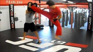 360 Jumping Spinning Heel/Hook Kick Tutorial