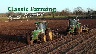 John Deere 3140 ploughing - listen to her growl... From the Classic Farming DVDs