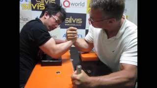 [팔씨름] 홍지승 vs 존 블젱크 ┃ JiSeung Hong vs John Brzenk (2013-07-08)