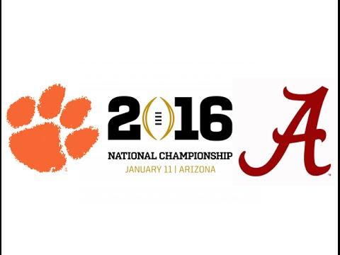 2016 CFP National Championship 1 Clemson vs 2 Alabama Highlights