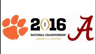 2016 CFP National Championship, #1 Clemson vs #2 Alabama (Highlights)