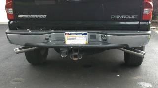 2005 chevy silverado   flowmaster exhaust  5.3 cat back loud