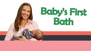 BABY'S FIRST BATH | Baby Care with Jenni June