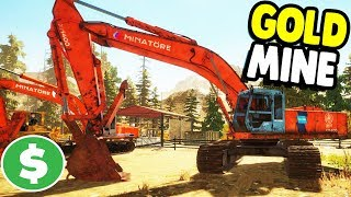 HUGE GOLD MINE STARTS UP    Gold Rush: The Game Gameplay
