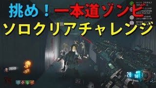 【BO3ゾンビ】挑め!「一本道ゾンビ」ソロクリアチャレンジ!「 The Hallway of Hell Challenge」