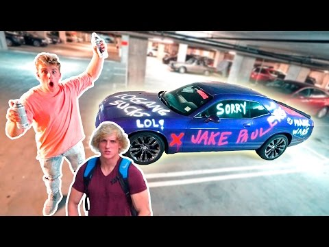 I SPRAY PAINTED MY BROTHERS CAR PRANK WARS