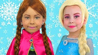 Alice Pretend Princess Frozen Elsa And Anna  The Best videos of 2018 by Kids smile tv