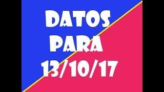 Datos Lotto Activo Para Viernes 13/10/17