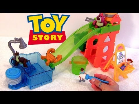 Cars Color Changers in Toy Story Slide n Surprise Playground Color Splash Buddies Disney Pixar