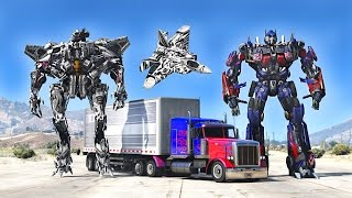 OPTIMUS PRIME VS STARSCREAM - GTA 5 TRANSFORMERS MOD !!!