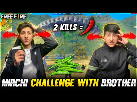 Green Chillies Challenge With My Little Brother In Free Fire Crying Moment😭 Garena Free Fire