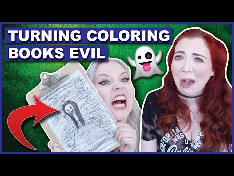 Turning Kid s Coloring Books Into SCARY THINGS