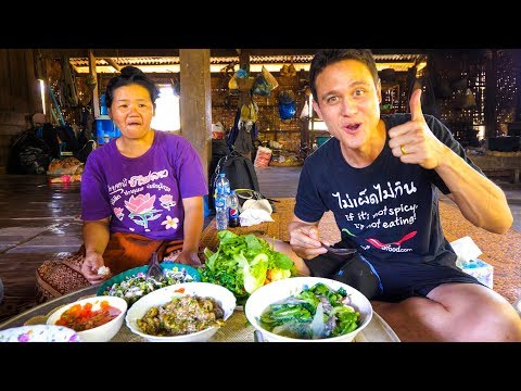 Laotian Food STUNNING LAO FISH SALAD Village Cooking in Laos