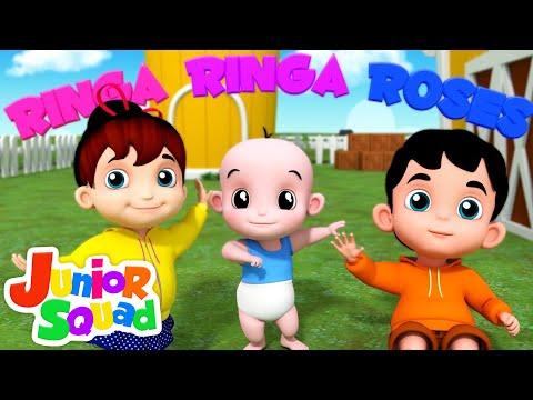 Ringa Ringa Roses | Nursery Rhymes Songs For Toddler | Kindergarten Song By Junior squad