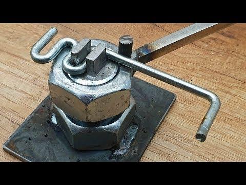 DIY Bender of Steel Nut and Bolt