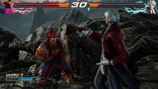 TEKKEN 7 (PS4) - Akuma Vs Lee Gameplay & Lee's Rage Art (1080p 60fps)
