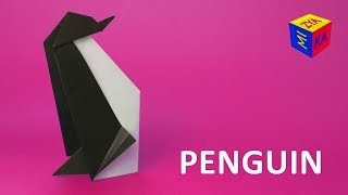How to make origami penguin – easy video tutorial. Winter paper craft ideas for kids