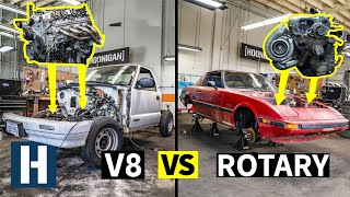 Build & Battle: Engines OUT! Rotary vs V8, What