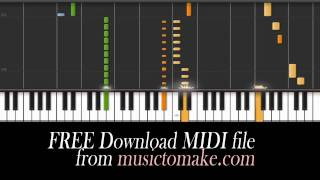 Piano tutorial of Teenage Dream by Katy Perry. Free MIDI download.