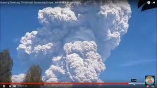 Mount Sinabung in Sumatra, Indonesia Erupts   FEB 19 2016 & MAY 22, 2018