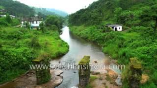 Myntdu river in West Jaintia hills of Meghalaya