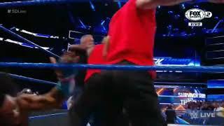 SHANE MCMAHON RECIBE PALIZA DE THE SHIELD EN ESPAÑOL LATINO WWE SMACK DOWN 14-11-17