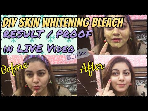 How to Bleach Facial Hair at Home | DIY Skin Whitening Bleach | Homemade Facial Hair Bleach