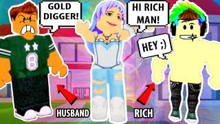 I CHEATED ON HIM?! ROBLOX GOLD DIGGER! | Roblox Adopt and Raise A Cute Kid | Roblox Funny Moments