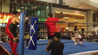 ジューケン&里歩(日本) vs EKバキ&ジプシー(タイ)プロレス(pro wrestling) 第2回 サワディカップ/Sawasdee CUP その1