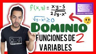 Dominio en funciones de dos o más variables | Calculo multivariable