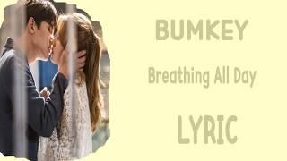 lyric bumkey breathing all day han rom eng