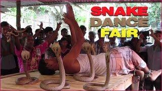 Snake dance fair in the village.  Jhapan Khela.