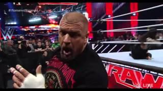 Roman Reigns vs. Tripple H : Raw, Februar 22, 2016 [ENGLISH] [BLOODY]