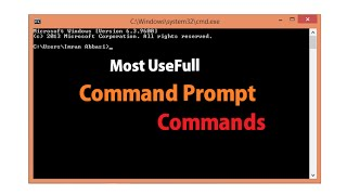 Most Useful Command Prompt (CMD) Commands - Urdu/Hindi