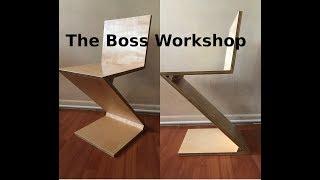 Making A Zig-Zag Chair   Modern DIY
